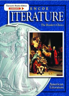 Glencoe Literature Course 6, Grade 11 American Literature : The Reader's Choice