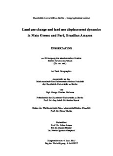 Land use change and land use displacement dynamics in Mato Grosso and Pará, Brazilian Amazon
