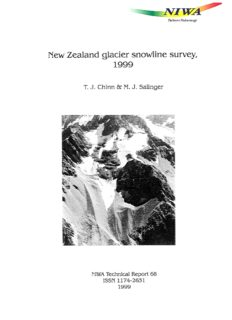 Chinn, T.J., Salinger, M.J., 1999. New Zealand glacier snowline survey, 1999