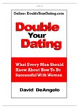 Best eBook on Dating Online - Double Your Dating: What Every Man Should Know About How To Be Successful With Women