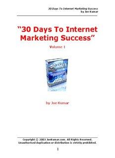 30 Days To Internet Marketing Success