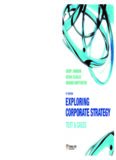 Exploring Corporate Strategy: Text & Cases (8th Edition)