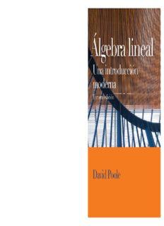 Algebra Lineal. Una Introducción Moderna