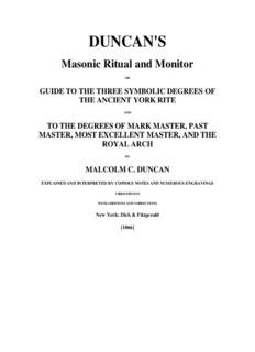Duncan's Masonic Ritual and Monitor - Rose Croix