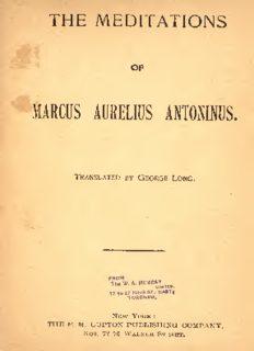 The meditations of Marcus Aurelius Antoninus by Marcus Aurelius, Emperor of Rome