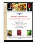 FUNDAMENTALS OF HORTICULTURE & PRODUCTION TECHNOLOGY OF FRUIT CROPS e ...