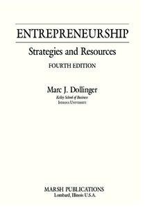 Entrepreneurship: Strategies and Resources