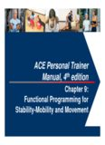 ACE Personal Trainer Manual, 4 edition - Ning
