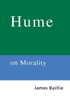 Routledge Philosophy GuideBook to Hume on Morality (Routledge Philosophy GuideBooks)