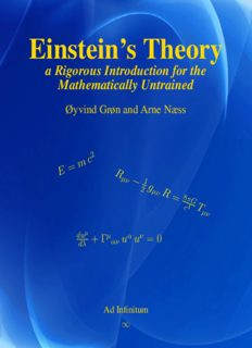 Einstein's theory : a rigorous introduction to general relativity for the mathematically untrained