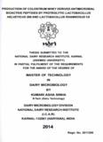 master of technology in dairy microbiology by kumari asha sinha