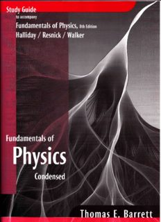 Study Guide to Accompany Fundamentals of Physics 8e, Halliday Resnick Walker
