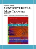 Solutions Manual CONVECTIVE HEAT MASS TRANSFER