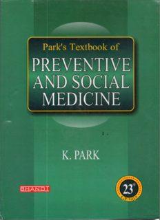 Park's Text Book of Preventive & Social Medicine