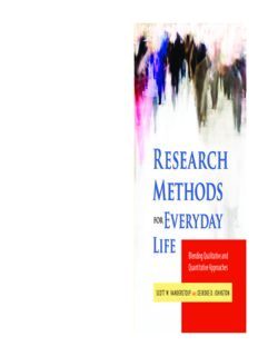 Research Methods for Everyday Life: Blending Qualitative and Quantitative Approaches (Research Methods for the Social Sciences)