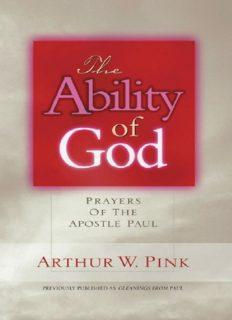 Ability of God. Prayers of the Apostle Paul