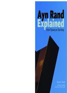 Ayn Rand Explained: From Tyranny to Tea Party