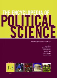 The Encyclopedia of Political Science, Volume 1-5