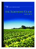 COLLEGE OF AGRICULTURAL SCIENCES the Agronomy Guide