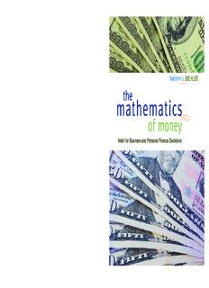 The Mathematics of Money
