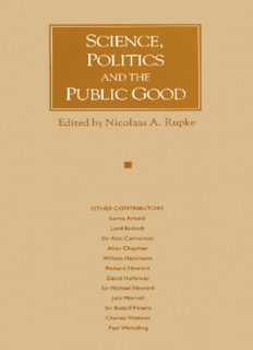 Science, Politics and the Public Good: Essays in Honour of Margaret Gowing