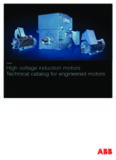 High voltage induction motors Technical catalog for engineered motors High voltage induction ...