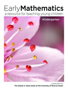 Noyce Early Math Kindergarten Book - The Charles A. Dana Center