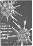 Quantitative chemical analysis solution manual
