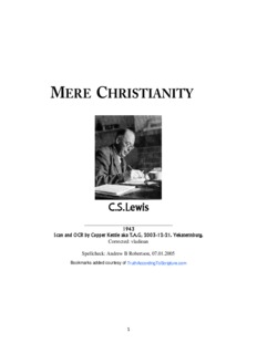 Mere Christianity - C.S. Lewis - Truth According to Scripture