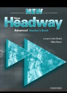 Page 1 Advanced Teacher's Book Liz and John Soars Mike Sayer Page 2 Teacher's Book English ...