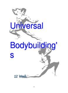 12 Week Bodybuilding Course Universal Thaing Wizard