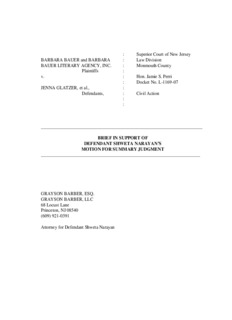 Brief of defendant Shweta Narayan