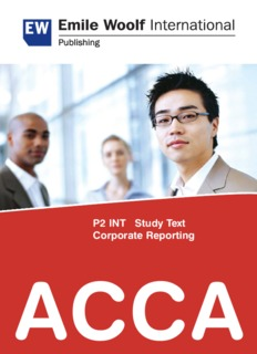 P2 INT Study Text Corporate Reporting ACCA