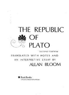 Plato's Republic [Allan Bloom's translation]