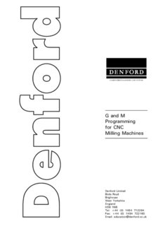 G and M Programming for CNC Milling Machines