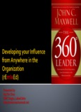 The 360 Degree Leader Developing your Influence from Anywhere in the Organization