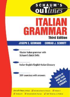 Schaum's Outline of Italian Grammar (Schaum's Outlines)