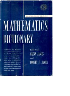 Mathematics Dictionary. Multilingual Edition: English, French, German, Russian, Spanish