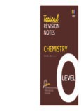 Topical Revision Notes Chemistry O Level