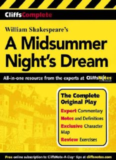 A Midsummer Night's Dream (Cliffs Complete)