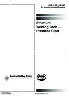 Structural welding code--stainless steel