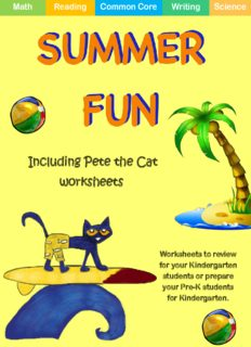 Including Pete the Cat worksheets