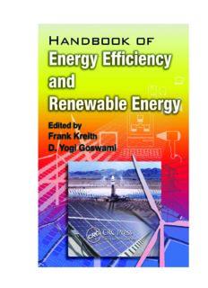 Handbook of Energy Efficiency and Renewable Energy (The CRC Press Series in Mechanical and Aerospace Engineering)