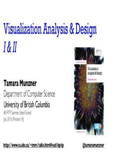 Tamara Munzner Department of Computer Science University of British Columbia
