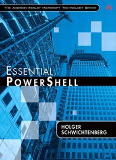 ESSENTIAL POWERSHELL Holger Schwichtenberg