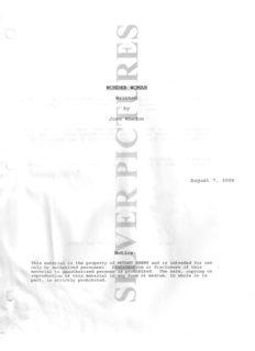 Wonder Woman [AUG7-07] (Joss Whedon)