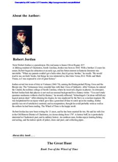 Robert Jordan - The Wheel of Time 02 - The Great Hunt