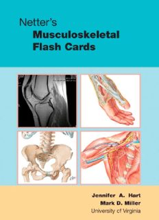 Netter's Musculoskeletal Flash Cards, 1e