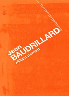 Jean Baudrillard: Against Banality (Key Sociologists)