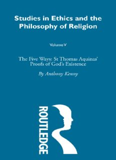The Five Ways: St Thomas Aquinas' Proofs of God's Existence